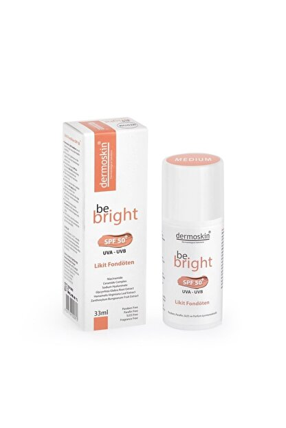 Dermoskin Be Bright Likit Fondöten Medium Spf50 33 ml