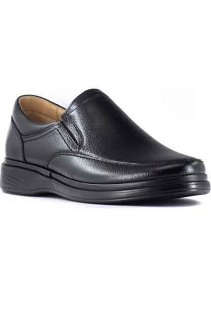 GÜRCAN Erkek Sşyah Ekinci Hakiki Deri Siyah Günlük Ayakkabı