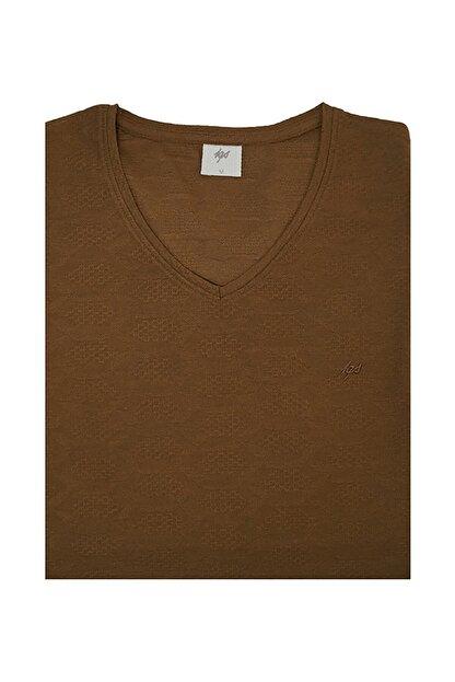 İgs Erkek Kahverengi Slim Fit Tişört