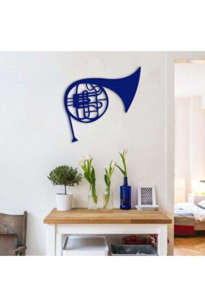Bafidica Mavi Fransız Kornosu Metal Tablo 50 X 49 cm
