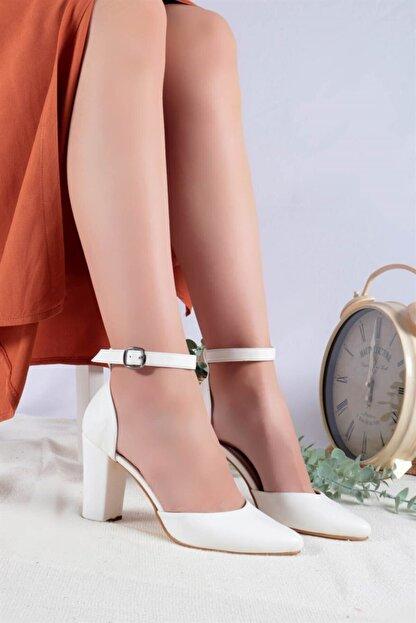 Ayakkabım Elimde Kadın Beyaz Cilt Joyce Topuklu Ayakkabı