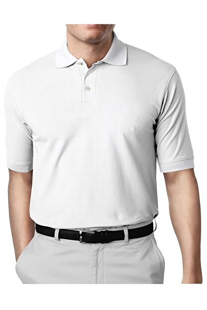 İgs Erkek Beyaz Modern Fit Polo Yaka T-shirt