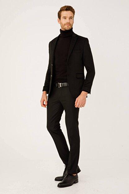 İgs Erkek Siyah Rahat Kalıp Pantolon