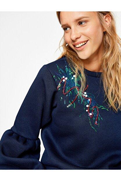 Koton Kadın Lacivert Sweatshirt 8KAL11582JK