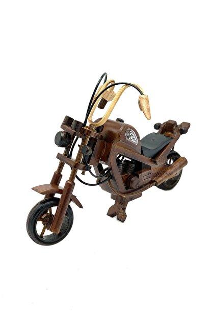 Dünyadan Hediyeler Dekoratif Ahşap Motosiklet 28 Cm