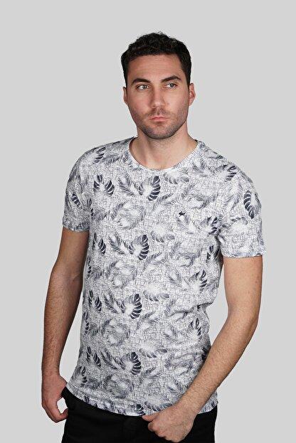 İgs Erkek Beyaz Slim Fit Tişört