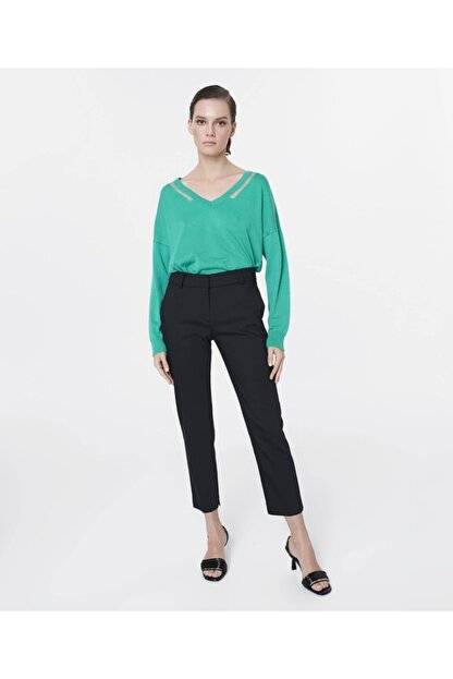 İpekyol Kadın Siyah Klasik Kesim Pantolon