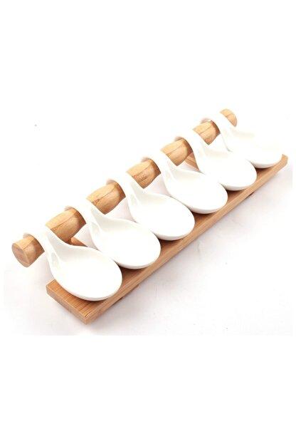 AROW Beyaz Bambulu Porselen Sunum Seti