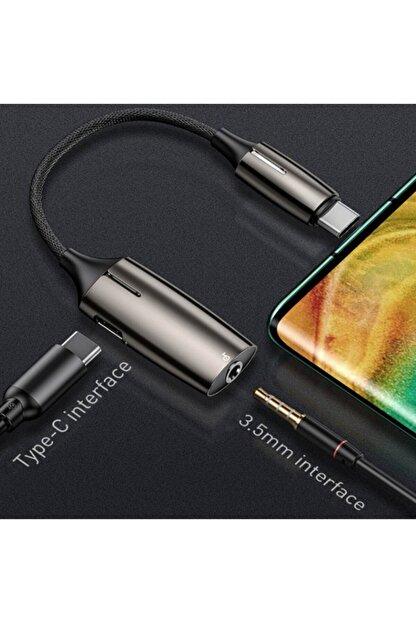 Ally Mobile Baseus L60s Hızlı Şarj 2-in-1 Type-c To 3.5mm Kulaklık Ve Şarj Dönüştürücü Başlık