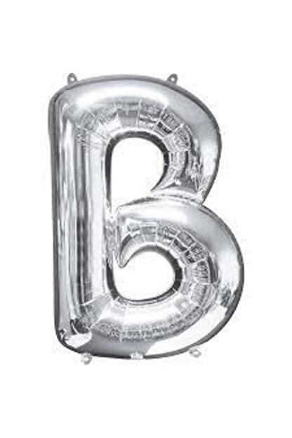 """Deniz Yıldızı Sanat 40"""" Inç 100 Cm Folyo Harf Balon Gümüş B"""