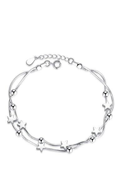 Adal Silver Kadın 925 Ayar Gümüş Ikili Yıldızlı Bileklik
