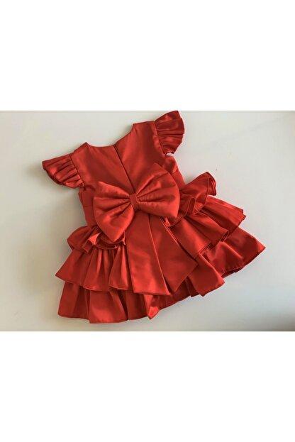 GNL Tasarım Kız Bebek Kırmızı Elbise