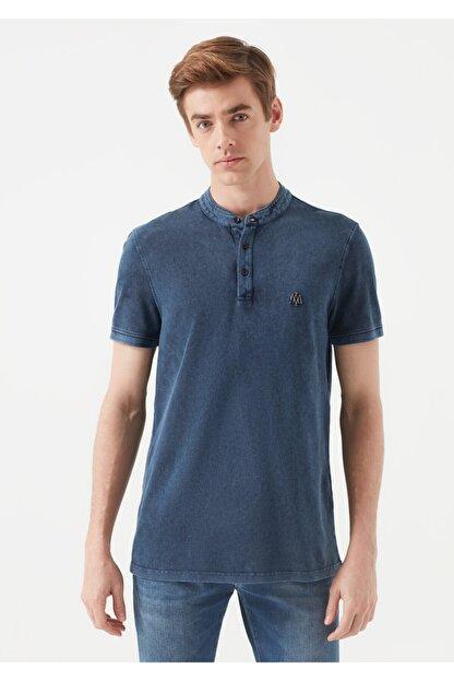 Mavi Erkek Mavi Hakim Yaka T-Shirt