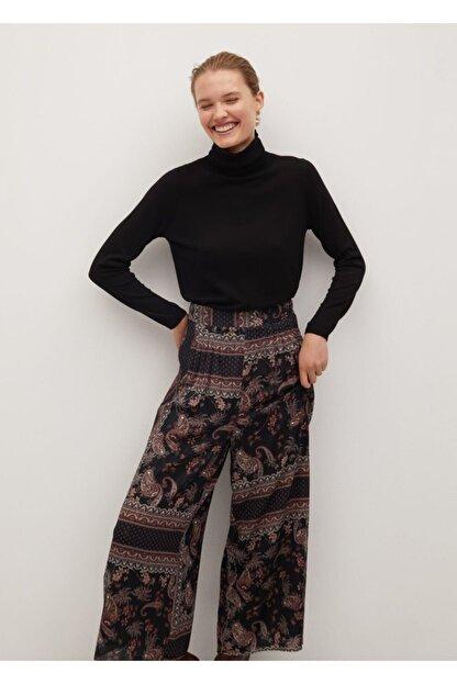 Mango Kadın Siyah Salaş Pantolon