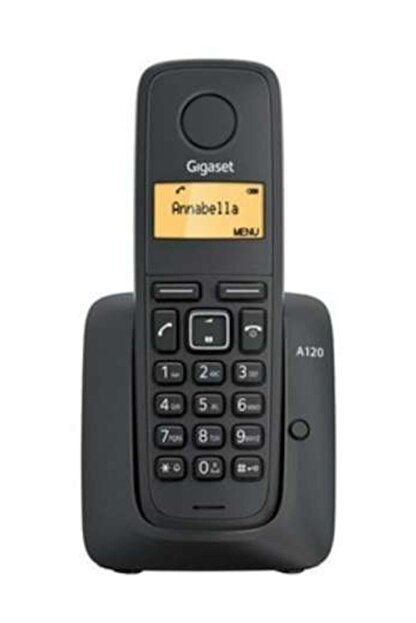 Gigaset Siyah 50 Rehber Işıklı Ekran Dect Telefon A120