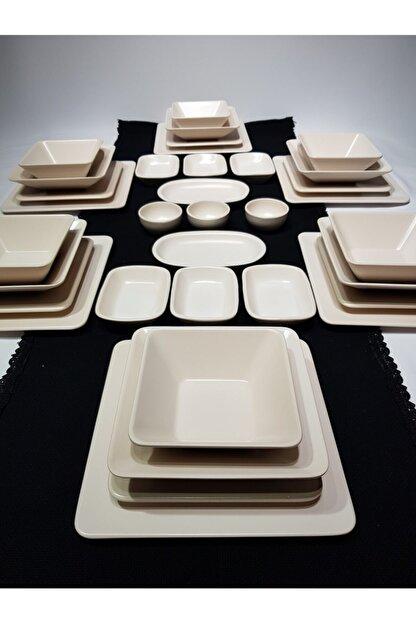GULHANILE Kare 35 Parça 6 Kişilik Kahvaltı Yemek Takımı