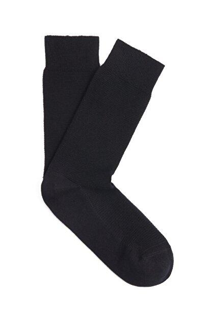 Mavi Siyah Uzun Soket Çorap