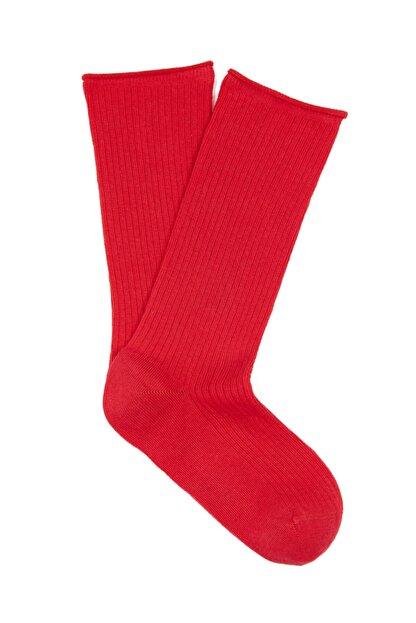 Mavi Kırmızı Uzun Çorap