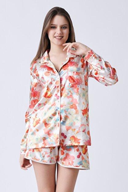 C&City Kadın Bej Yakalı Rosaline Gömlek