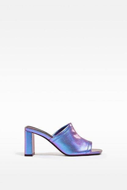 Bershka Yanardöner Metalik Topuklu Sandalet