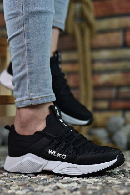 Riccon Siyah Beyaz Unisex Sneaker