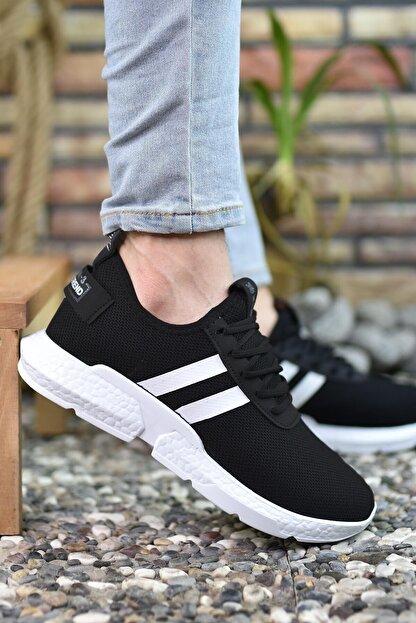 Riccon Siyah Beyaz Erkek Sneaker 00122051