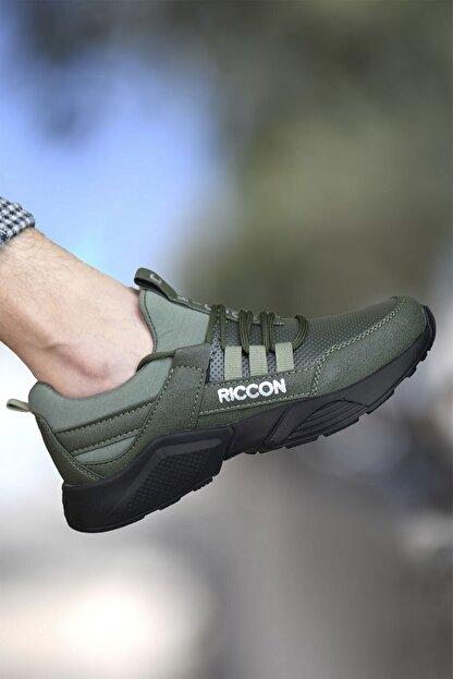 Riccon Unisex Haki Cilt Sneaker 0012072