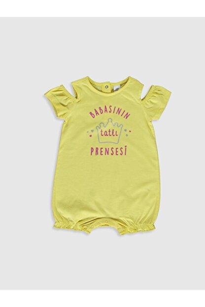 LC Waikiki Kız Bebek Sarı P6W Tulum