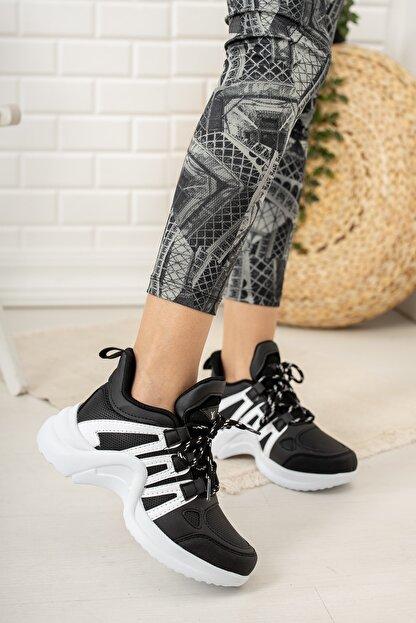 Moda Değirmeni Kadın Siyah Sneaker Ayakkabı Md1054-101-0001