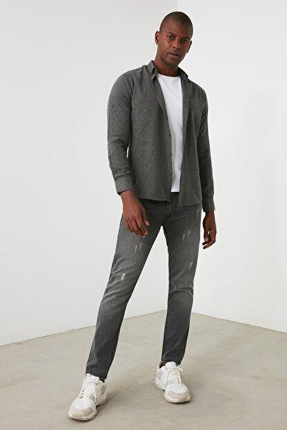 TRENDYOL MAN Gri Erkek Skinny Jeans TMNAW21JE0818