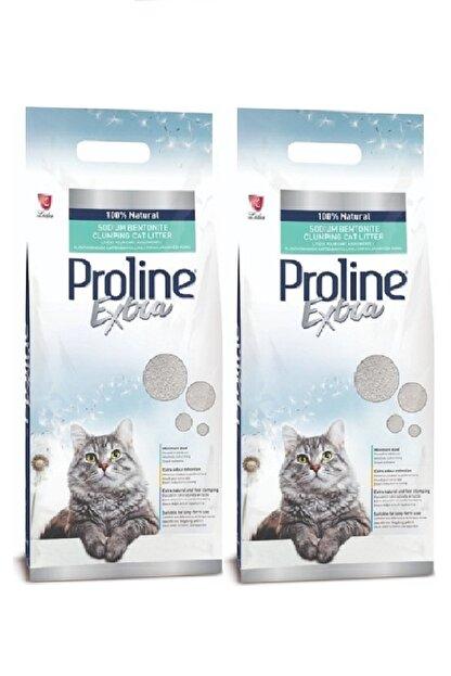 Pro Line Extra Sodium Bentonit Gri Topaklanan Kedi Kumu 10 lt x 2 Adet