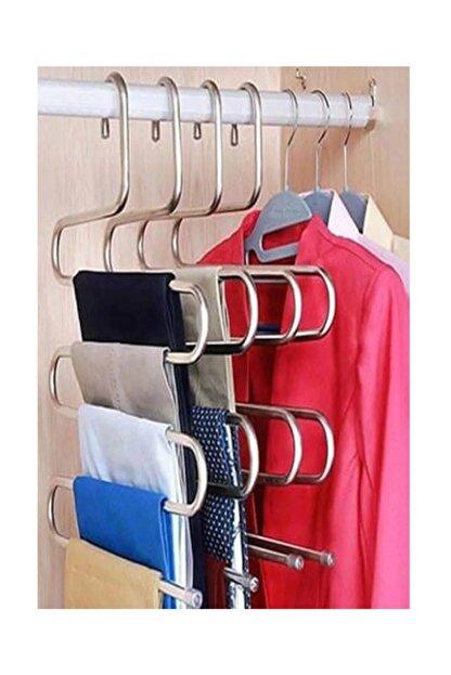 Vip Home Concept 5 Katlı Pantolon Eşarp Fular Askısı 5'li Dolap Askısı 1  Adet