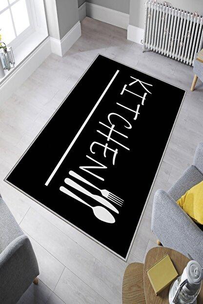 Homefesto Dekoratif Özel Tasarım Modern Yıkanabilir Ince Kaymaz Taban Mutfak Halısı
