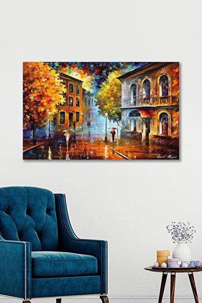 Hediyeler Kapında 100x140 Sonbahar Sanatsal Duvar Kanvas Tablo