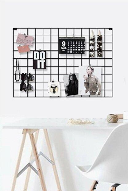 Vip Home Concept Fotoğraf Askısı Tel Askılık Metal Pano Duvar Askılığı Notluk 50 cm x 70 cm