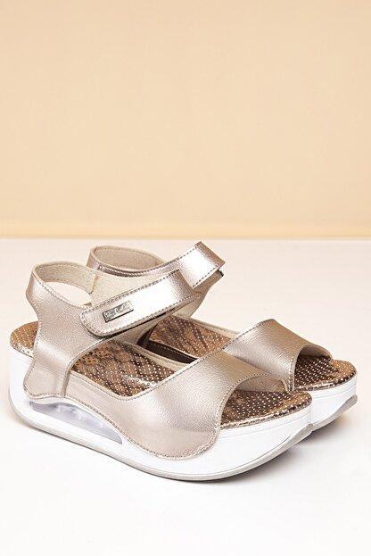 Pierre Cardin Pc-1406 Platin Kadın Sandalet