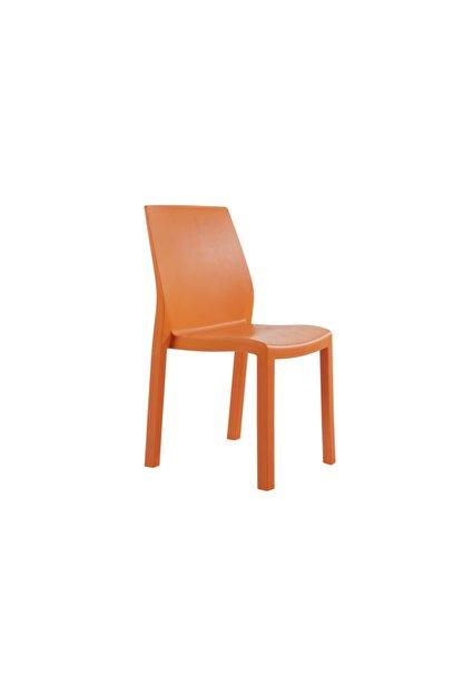 Papatya Mobilya Yummy Sandalye Turuncu - Plastik Bahçe Sandalyesi