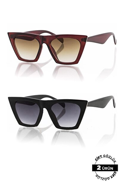 Polo55 PL8045R01R02 Unisex Güneş Gözlüğü 2'li Ürün