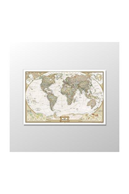Atlantis Tablo Dünya Haritası - 60x40