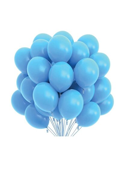 BalonEvi Mavi Pastel Balon 100'lü