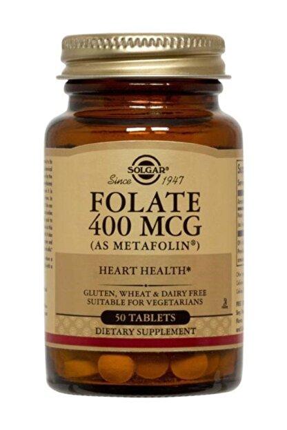 Solgar Folate (Metafolin®) 400 Mcg 50 Tablet 033984019409