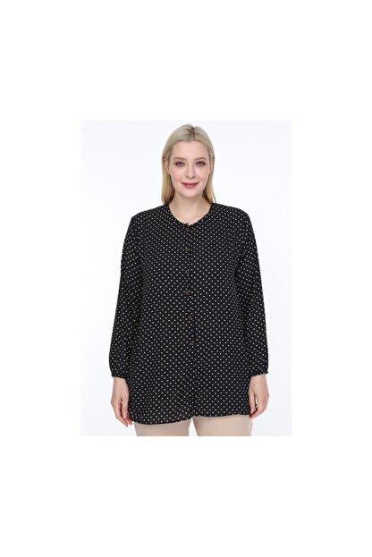 NEW WORLD Newworld Kadın Büyük Beden Gömlek Bluz Düğmeli