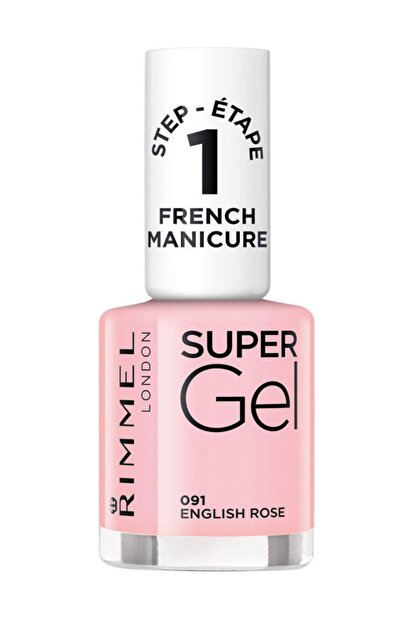 Rimmel London Oje - Super Gel French Manicure 091 English Rose 12 ml 30121553