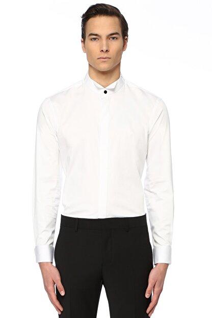 Network Erkek Slim Fit Beyaz Gömlek 1074789