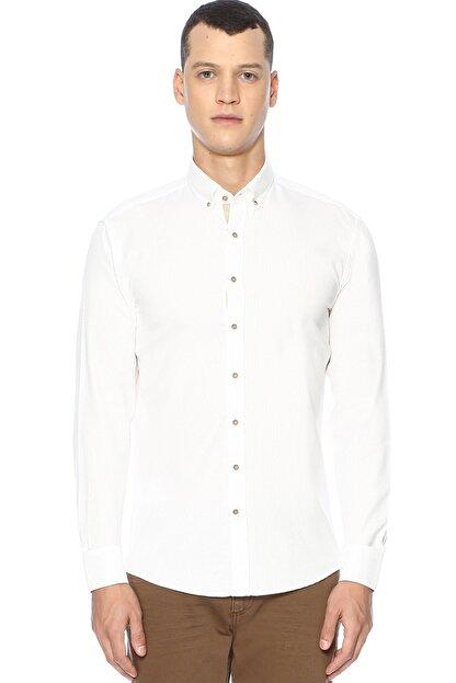 Network Erkek Slim Fit Beyaz Gömlek 1070436