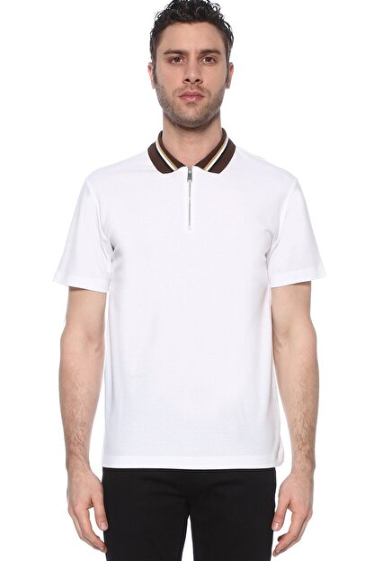 Network Erkek Polo Yaka Beyaz Tshirt 1073719