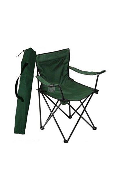 CiciMarketim 2 Yeşil Rejisör Kamp Sandalyesi + 1 Adet 45*60 Masa Set