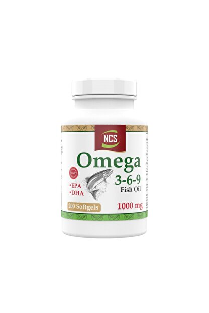 Ncs Omega 3 6 9 Balık Yağı 1000 mg 200 Capsül Epa Dha Içerikli
