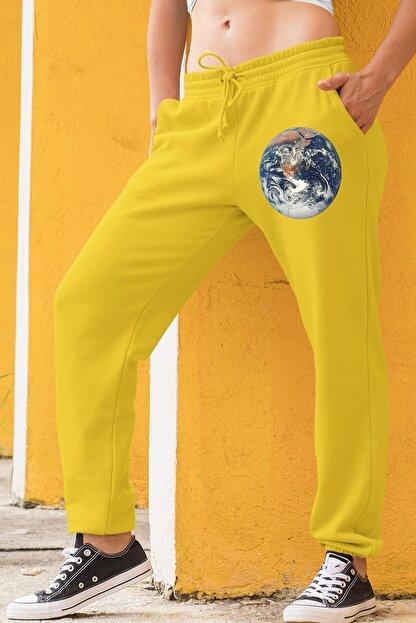 Angemiel Wear Dünya Sarı Kadın Eşofman Altı