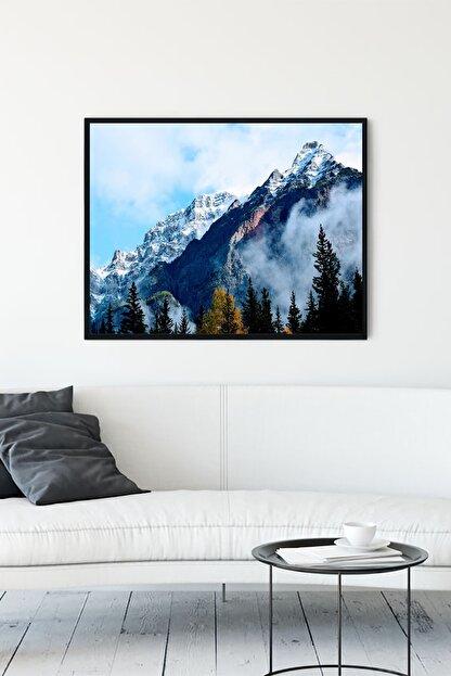 Postermanya Dağ Doğa Manzara Çerçeveli Tablo 3 (21x30cm)